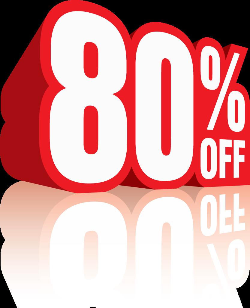 80 percent off discount sale icon 2 firecareers com fcblog